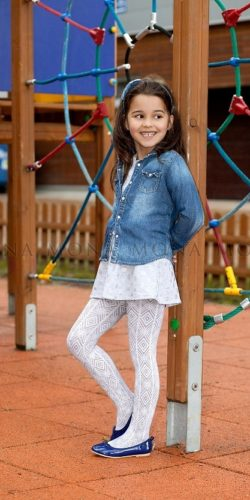 Collant fantasia feometrica bambina 5-10 anni 60 den Lenka 01