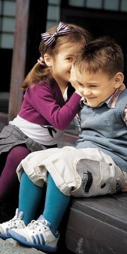Collant in cotone per bambini 2-6 anni maglia liscia diversi colori