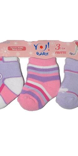 3 paia calzini neonata caldo cotone 3-6 mesi