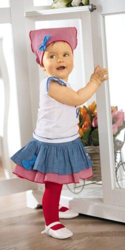 Calzamaglia in cotone leggero per neonata maglia liscia