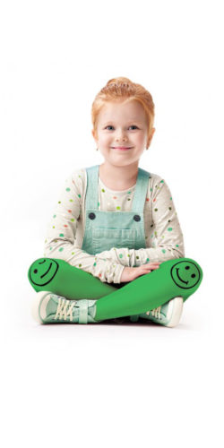 Calzamaglia in microfibra bambina 2-8 anni 40 den Smiley