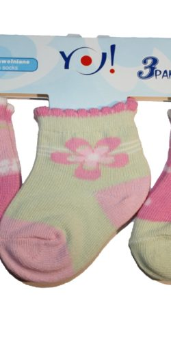 3 paia di calzini cotone neonata 3-6 mesi