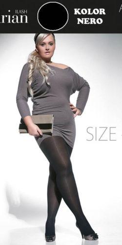 Collant coprente curvy plus size 60 den taglie comode Amy XXL