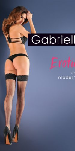 Calze autoreggenti a rete piccola con riga posteriore Erotica 155