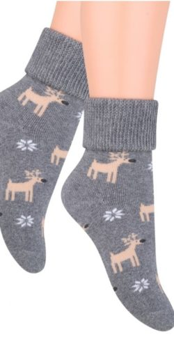 Calzini natalizi in caldo cotone spugna fantasia renna