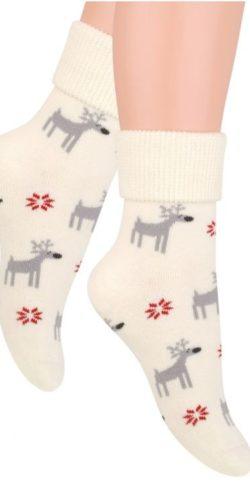 Calzini natalizi in cotone spugna fantasia renna
