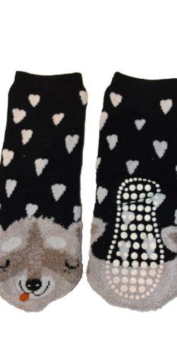 2 paia di calzini antiscivolo caldo cotone bimba 1-8 anni
