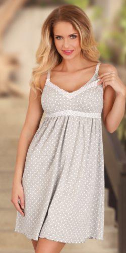 Camicia da notte gravidanza allattamento in cotone premaman