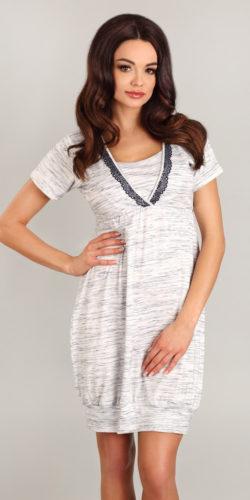 Camicia da notte premaman allattamento in viscosa premaman