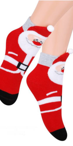 Calzini natalizi in cotone spugna Babbo Natale