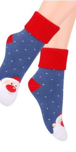 Calzini natalizi in caldo cotone spugna Babbo Natale