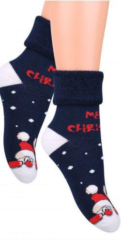 Calzini natalizi per bambini in caldo cotone Babbo Natale