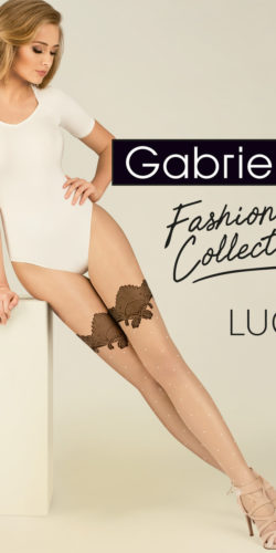 COLLANT DONNA FINTE CALZE A POIS BIANCHI LUCY