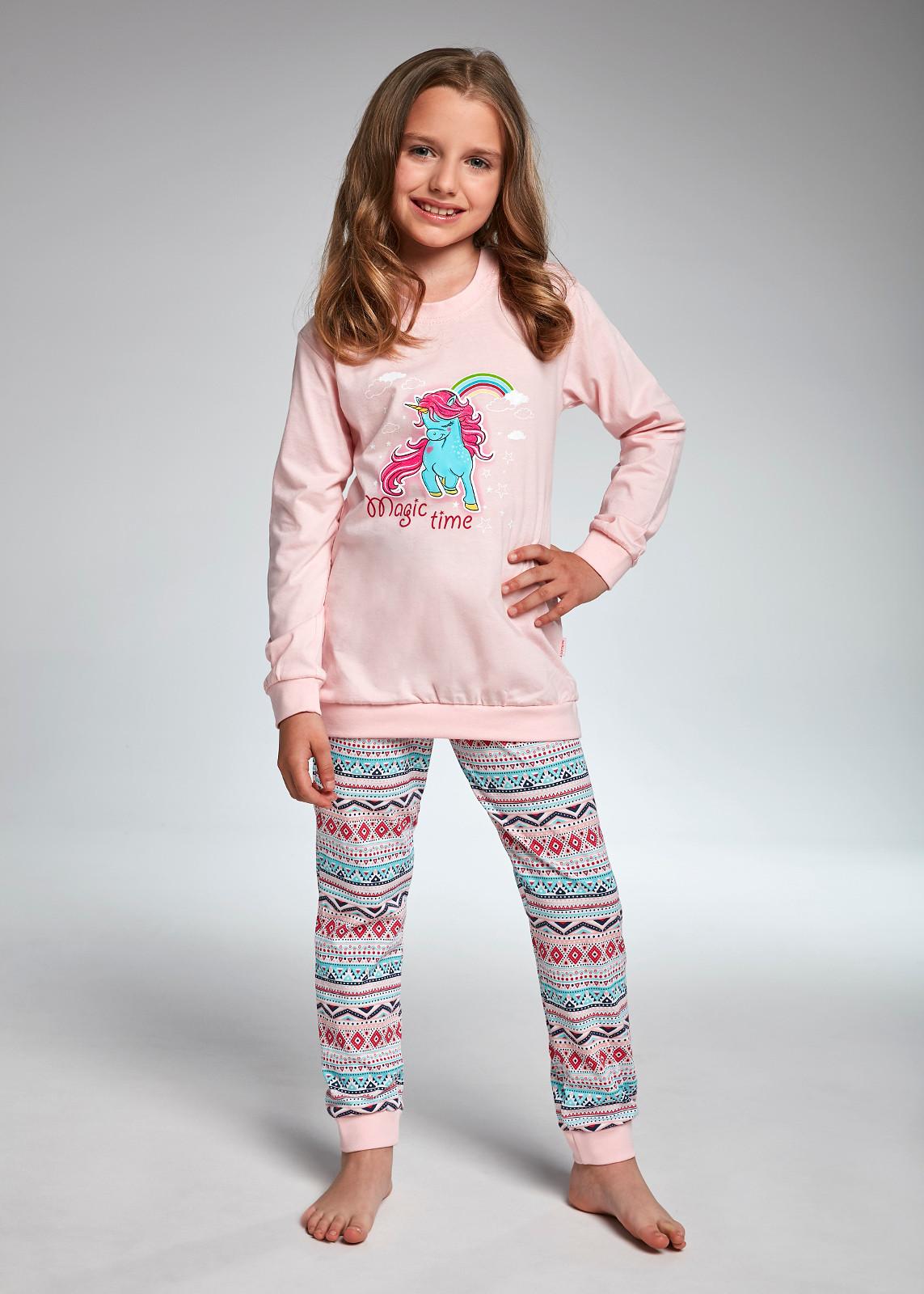 Pigiama Bambina In Cotone Manica Lunga Unicorno Calze Collant