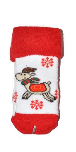 2 paia di calzini natalizi neonati in caldo cotone colori assortiti
