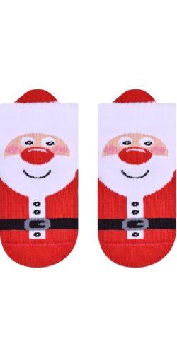 Calzini natalizi per neonati 0-12 mesi in cotone Babbo Natale