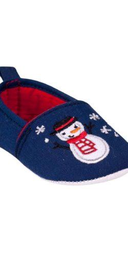 Pantofole natalizie neonati in cotone 6-12 mesi