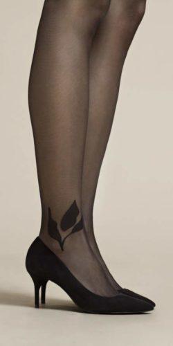 Collant con disegno foglie sulla caviglia 20 den Savello