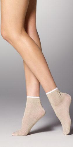 Calzini corti eleganti con glitter Louise