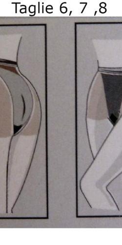 5 collant velati size plus taglie comode XXXL 20 den Kiara