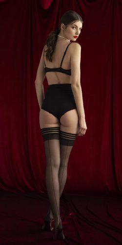 Calze autoreggenti con riga posteriore Femme Fatale 20 den