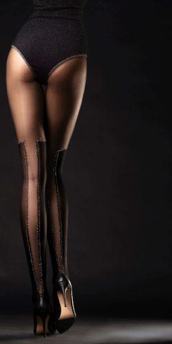 Collant finti stivali con lurex 40 den Poison