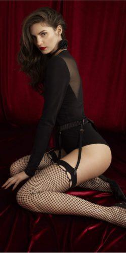 Calze per reggicalze a rete Burlesque