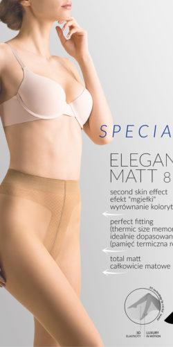 Collant velatissimo opaco 8 den effetto seconda pelle Elegant Matt