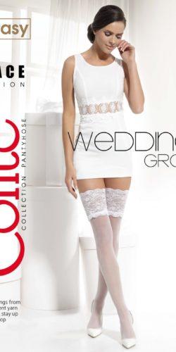 Calze autoreggenti sposa con balza alta in pizzo Wedding Grace