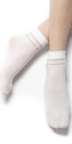 Calzini bianchi da bambina in filanca Lara