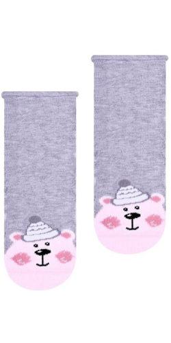 Calzini natalizi in cotone per neonata disegno orsetto