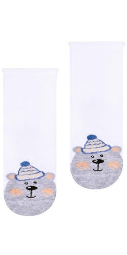 Calzini natalizi in cotone per neonati disegno orsetto