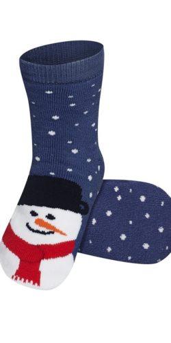 Calzini natalizi in caldo cotone disegno pupazzo di neve