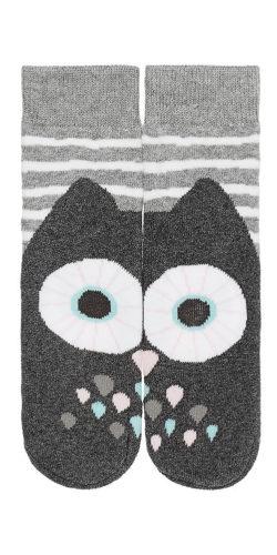 Calzini in caldo cotone disegno gufo