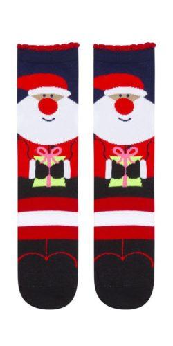 Calzini natalizi in cotone disegno Babbo Natale idea regalo tg. 36-41