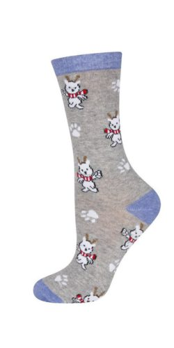 Calzini natalizi in cotone disegno Renne idea regalo tg. 36-41