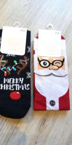 2 paia di calzini natalizi taglie 41-46 in cotone assortiti