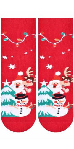 2 paia di calzini natalizi in cotone taglie 35-40 assortiti