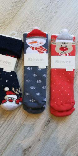 3 paia di calzini natalizi per bambini 3-8 anni assortiti