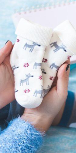 3 paia di calzini natalizi in caldo cotone bambini 1-3 anni assortiti