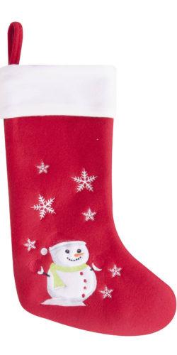 Calza natalizia in feltro per regali Pupazzo di neve