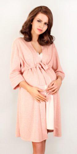 Vestaglia premaman in morbida viscosa rosa