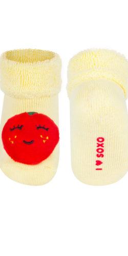 Calzini invernali neonata con sonagli fragola