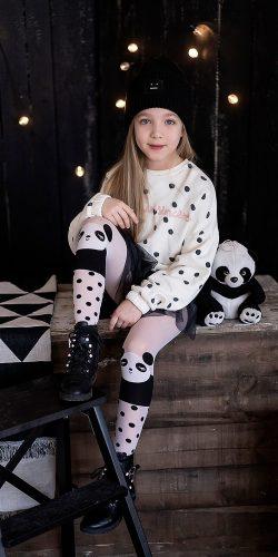 Collant bambina fantasia panda 40 den 5-9 anni Ling Ling