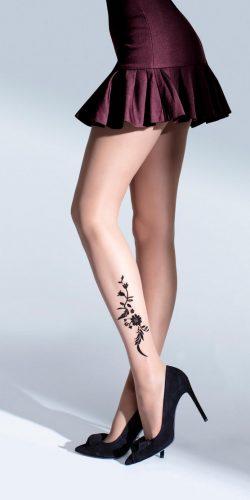 Collant fantasia effetto tatuaggio 20 den Shine fino alla taglia 5
