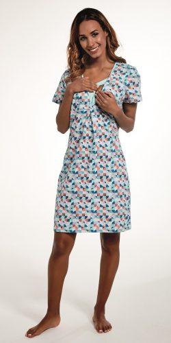 Camicia da notte allattamento in cotone premaman Bess