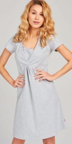 Camicia da notte premaman in cotone a mezza manica