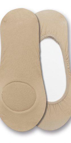 Calzini salvapiede in misto cotone con cuscinetto