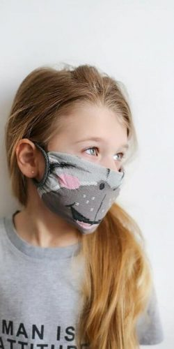 Mascherina lavabile per bambini in tessuto Oeko-tex Zebra