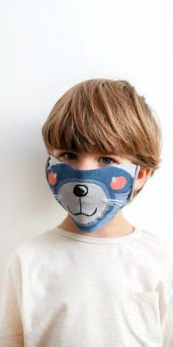 Mascherina lavabile per bambini in tessuto Oeko-tex Scoiattolo